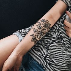 48 Beautiful Rose Tattoo Ideas For Women Revelist, Flower Tattoos What They Mean Studio City Tattoo Los. 12 Seriously Pretty Birth Flower Tattoos To Celebrate Yourself. Simbolos Tattoo, Piercing Tattoo, Body Art Tattoos, New Tattoos, Cool Tattoos, Piercings, Tattoo Forearm, Tatoos, Tattoo Fonts