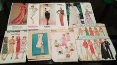 Sewing Pattern Lot 5 Vintage 1970s Designer by DRCRosePatterns