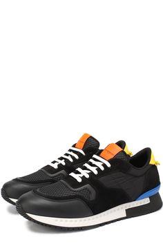 Мужские черные комбинированные кроссовки с контрастными вставками Givenchy, сезон SS 2017, арт. BM0/8217/980 купить в ЦУМ | Фото №1