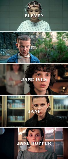 from Eleven to Jane #strangerthings