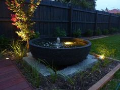 urn water feature ideas - Google Search