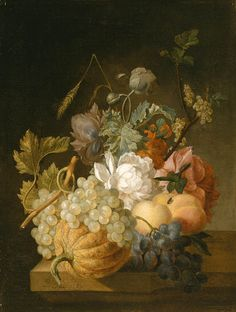Peter Faes (Flemish, 1750-1814) Fruits and Flowers, 1789
