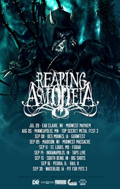 Minneapolis, MN-based progressive/technical death metal groupREAPING ASMODEIAdropped their Prosthetic Records release,Impuritize, in February of this year. Today, the band has revealed a brand n…