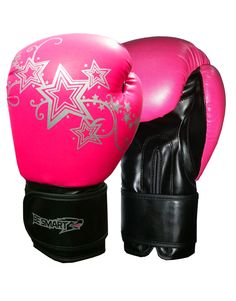 Be Smart Ladies Pink Gel Boxing Gloves Bag Womens Gym Kick Pads MMA Mitts Muay Thai