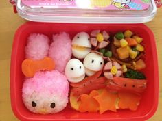 Japonica rice, boiled eggs, mixed veggies, carrots, sausages, [Created and prepared by Lhen Subong Kaitsuka}