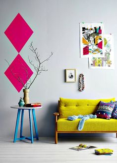 Colourful contrast in a living space