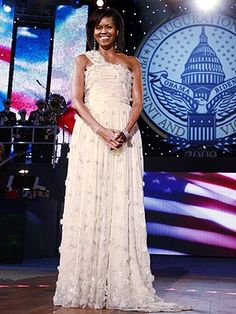 Michelle Obama's inaugural ball gown. Gorgeous!