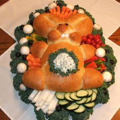 Spring Bunny Bread with Dip in Tummy Recipe | Just A Pinch Recipes