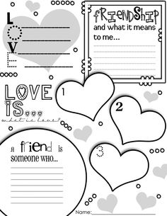 Valentine's Day Graphic Organizer Activity Poster Freebie!!!