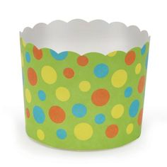 Welcome Home Brands-Festive Baking Cups-Green with Dots