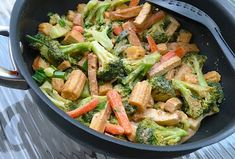 Thai broccoli and tofu with peanut satay sauce Seitan, Tempeh, Peanut Satay Sauce, Homemade Peanut Sauce, Tofu Recipes, Cauliflower Recipes, Plant Based Meal Planning, Protein, Vegan Main Dishes