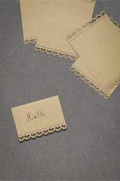 Feminine Touch Place Cards (10) in SHOP Sale at BHLDN