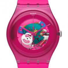 New Gent Lacquered by Swatch_hot pink_ecasirip 02    http://ecasirip.com/new-gent-lacquered-by-swatch