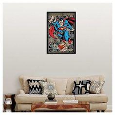 Art.com Superman Comic Montage Framed Poster, Variation Parent