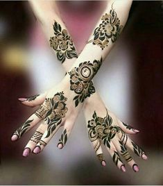 Full Arm Henna Tattoos Design 2018