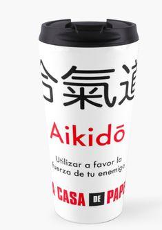 $25.25 Aikido Black White Tumbler coffee Mug Money Heist Bella Ciao Aikido, Travel Mug, Tumbler, It Works, Coffee Mugs, Money, Black And White, Tableware, Enemies