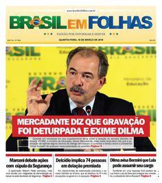 #Capadodia #Notícias #BomDia  1634 - Quarta-feira, 16 de março de 2016  Mercadante diz que gravação foi deturpada e exime Dilma  Gravado em conversas em que supostamente tenta evitar a delação do senador Delcídio do Amaral (PT-MS), o ministro da Educação, Aloizio Mercadante, disse nesta terça-feira (15) que a publicação de apenas alguns trechos da diálogo deturparam o conteúdo e tentou eximir a presidente Dilma Rousseff de qualquer responsabilidade no episódio…