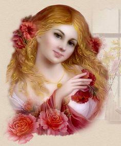 """""""Girl Rose"""" par Nadia Strelkina"""