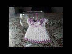 Lembrancinha Vestido de Bebê em Crochê - YouTube