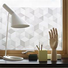 Graphite Deko-Fensterfolie - 48 x 120cm - Siluett Frost
