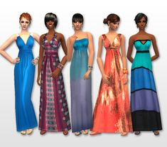 live2draw - Meighan's Maxi Mania! 5 AF Everyday Dresses