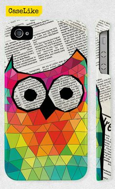 3D #iPhone 5 #Case  Colorful #Triangle #Geometric #Owl and by #caselike, $22.00