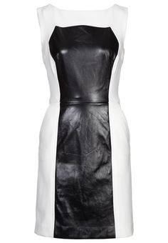 Bold black & white cocktail dress by Milly @ Zalando ❤ Monochrome