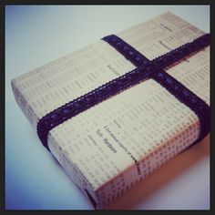 FT, gift wrapping - http://browniesandlace.wordpress.com/2013/01/21/ft-as-a-gift-wrapper/