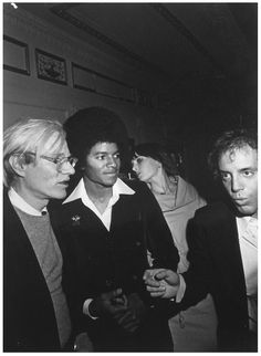 Andy Warhol & Michael Jackson at Studio 54