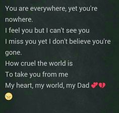 This is how grief & losing my Dad makes me feel - broken & confused. Our first Christmas without this amazing man who loved me more than anyone. Daddy I Miss You, Miss You Dad Quotes, Missing You Quotes, Love Dad, Rip Daddy, Words For Dad, I Dont Believe You, Remembering Dad, Make Him Want You