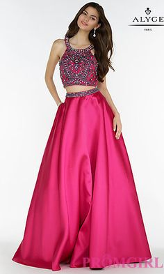 Alyce Ball Gown Style Two Piece Prom Dress at PromGirl.com