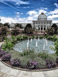 Lewis Ginter Botanical Garden -- the Fountain Garden & Conservatory in Richmond, VA