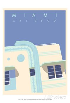 Art Deco-Miami Reproduction d'art
