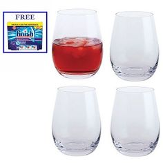 Dartington Shine On Tumblers Set of 4 New Home Gifts, Kitchen Accessories, Tumblers, House Warming, Wine Glass, New Homes, Stylish, Tableware, Modern