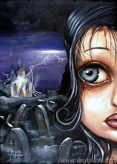 Angelina Wrona Angelina has been experimenting with various styles and media in her art for years. Earlier realist and folk art was rewa. Fine Art Posters, Dark Artwork, Kunst Poster, Galerie D'art, Lowbrow Art, Pop Surrealism, Canadian Artists, Eye Art, Amazing Art