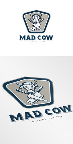Mad Cow Master Butchers Logo Template on Behance