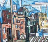 I love this artist J. Gordon Anderson who paints Baltimore cityscapes.  My goal is own one of his paintings in my life....