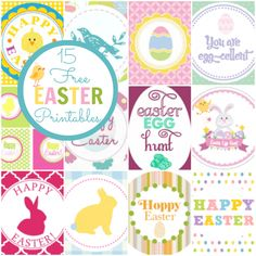 15 Amazing Free Easter Party Printables from The Catch My Party Blog by Jillian Leslie