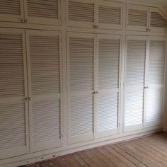 Louvre doors & Louvre doors Paint patina finish. Decorative cupboard doors . Portes ...