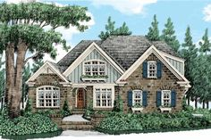 Country Exterior - Front Elevation Plan #927-430 - Houseplans.com