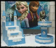 Escadinha para doces e baleiro Frozen!