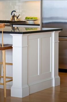 Supreme Kitchen Remodeling Choosing Your New Kitchen Countertops Ideas. Mind Blowing Kitchen Remodeling Choosing Your New Kitchen Countertops Ideas. Kitchen Island Molding, Kitchen Island Makeover, Stools For Kitchen Island, Painting Kitchen Cabinets, Kitchen Redo, Home Decor Kitchen, New Kitchen, Home Kitchens, Kitchen Islands