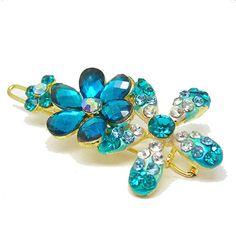 Blue Fashion Jewelry Crystal Hair Bent