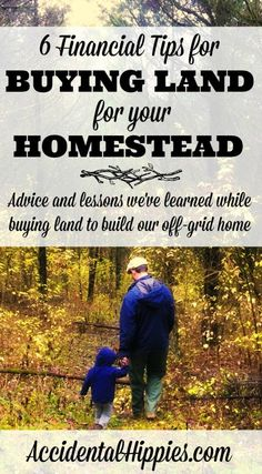 Six big tips we learned in the process of trying to buy land for building our off grid homestead. Questions to ask and things to know before you pay lots of money for your homesteading land. Homestead Farm, Homestead Survival, Survival Tips, Survival Skills, Homestead Living, Survival Stuff, Survival Food, Camping Survival, Home Buying Tips