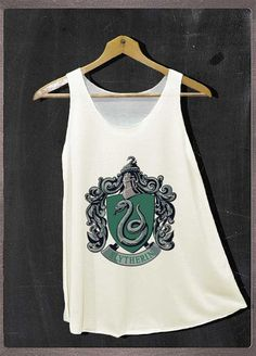 Harry Potter Slytherin Crest Shirt Tank Top Women Size S and M