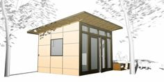 10 x 12 Studio – Bronze Package in the design phase.  midcentury - spaces - Studio Shed - home office - shed - studio - prefab studio - outdoor living space - home gym - modern shed - contemporary shed - modern - contemporary