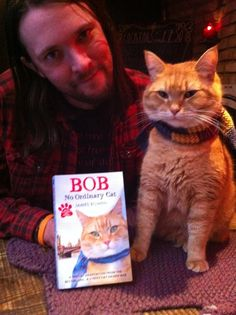 Bob Cats Very pleased. Just got our copies of the children's edition. :) Bob is a street cat - read all about his adventures here - I Love Cats, Crazy Cats, Cool Cats, A Cat Named Bob, Bobcat Pictures, Street Cat Bob, Shih Tzu, Cat Reading, Orange Cats