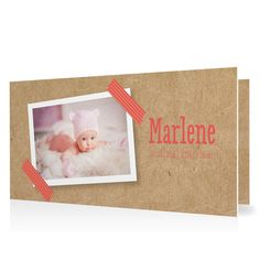 Geburtskarte Masking Tape in Koralle - Klappkarte flach lang #Geburt #Geburtskarten #Mädchen #Foto #kreativ #vintage https://www.goldbek.de/geburt/geburtskarten/maedchen/geburtskarte-masking-tape?color=koralle&design=7cade&utm_campaign=autoproducts