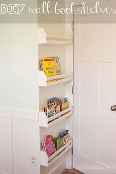 diy wall bookshelves: Carissa Miss