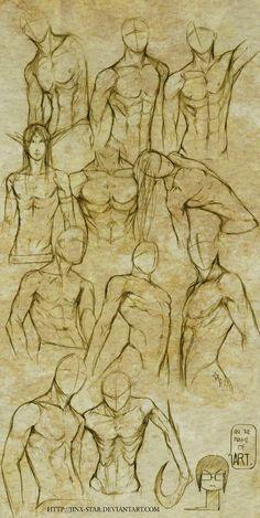 +MALE BODY STUDY I+ by jinx-star.deviantart.com on @deviantART